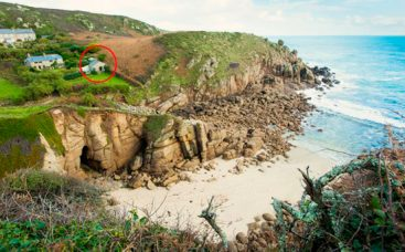 Location of Hella, located on the edge of amazing Cornish beach as featured in Poldark